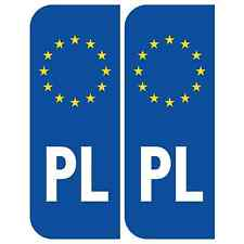 Poland Euro PL Badge Car Number Plate Adhesive Vinyl Stickers European decal