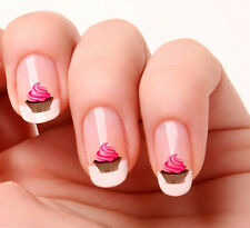 20 Nail Art Decals Transfers Stickers #08 - Cup Cake