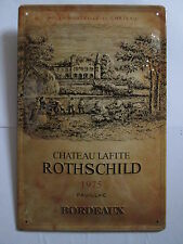Bordeaux Rothschild vin, château-Lafite, vin de France, en tôle bouclier