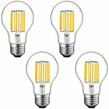 Luxrite A19 LED Light Bulb Dimmable Clear Edison E26 Base 60W 2700K 800lm 4 Pack