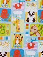 5 SHEETS OF THICK GLOSSY BOYS / CHILDREN'S ANIMALS BIRTHDAY WRAPPING PAPER