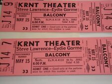 Steve Lawrence Eydie Gorme 2 Unused 1966 Tickets Will Call Envelope Krnt Theater