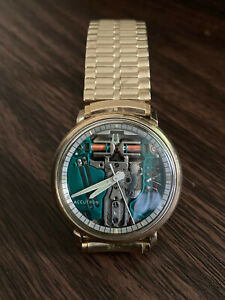 "Vintage Original 1967 Bulova Accutron 214 ""Spaceview"" M7 10k GF Men's Watch"