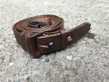 WW2 German K98 Mauser Rifle Sling Brown Leather NEW REPRODUCTION
