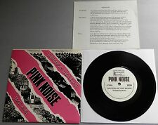 """Pink Noise - Thin End Of The Wedge UK 1987 Reasonable 7"""" P/S with Insert"""