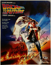 BACK TO THE FUTURE Cast (6) Signed 11x14 Photo THOMPSON + WELLS Beckett BAS COA