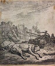 Dujardin Karel  Amsterdam 1622-1678 Venedig Schlafende Jagdhunde (540a/11/16)