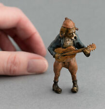 More details for cold painted bronze anthropomorphic hound dog playing the blues beagle miniature