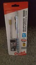 Pentel GraphGear 1000 Premium Mechanical Pencil Chrome/Blue 0.7mm  Brand New!