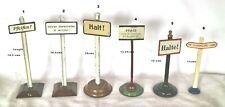 001A : Vintage Bing & Similaire Gauge1 Chemin de Fer Plaques Et Avis