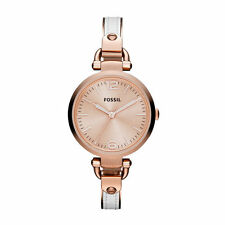 Fossil Georgia Pink Dial Women's Quartz Watch ES3261
