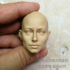 blank 1/6 Scale lady girls Head Sculpt unpainted without hair No.126