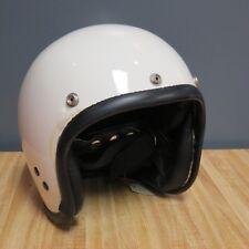 Vepo Italy White Motorcycle Helmet Size 7 Vintage Retro Style NOS Open Face
