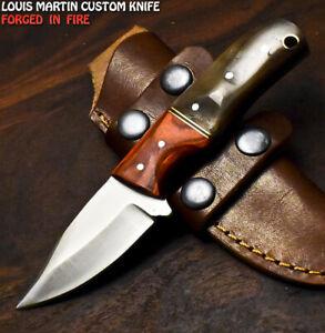 Louis Martin Custom Handmade D2 Tool Steel Ram's Horn Hunting Skinner Knife