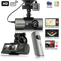 Indigi HD Dash-Cam Dual Camera Front+InCab Driving Recorder Car DVR GPS Logger G-Sensor