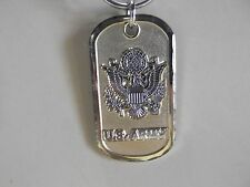 """Old Unique Collectible Keychains  Dog Tag Shape U.S. ARMY 2""""in"""