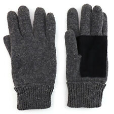 Men's Ragg Wool Blend Suede Leather Palm Winter Gloves - FREE SHIPPING