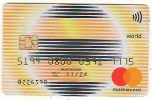 Bank card of Kazakhstan