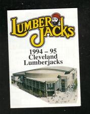Cleveland Lumberjacks--1994-95 Pocket Schedule--Ohio Lottery--Penguins Affiliate