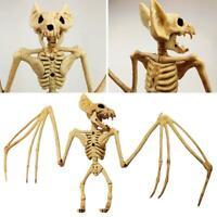 Creepy Skeleton Bat Bones Halloween Decor Scene Nice Party Scary Decor Props