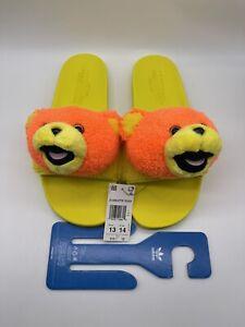 Adidas x Jeremy Scott Adilette Teddy Bear Slides Size 13 Mens 14 Womens Q46582