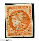 classique de France Bordeaux N° 48a orange vif oblitéré cachet ancre