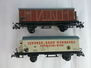HO Vintage TRIX Modell Tin Freight Cars Set of 2