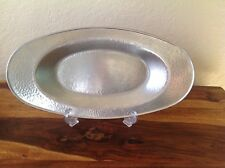 "Vintage Revere~Rome N.Y~Hammered Pewter Serving Dish/Tray~14"" x 7 1/2""~VGUC~Nice"