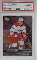 2015 2016 Brett Pesce UPPER DECK YOUNG GUNS FOIL PSA 10 ROOKIE CARD RC Pop = 1