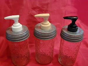 Mason Jar Lotion & Soap Dispenser Converter lid - Galvanized, Black or Rusty