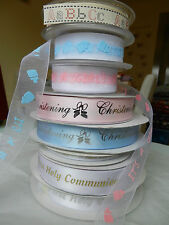 2 metres BN BABY THEMES RIBBONS (christening communion  girl boy)