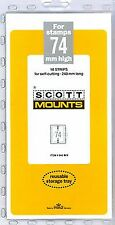 Prinz Scott Stamp Mount 74/240 Clear Background Pack of 10
