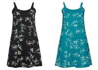 Sheego Damen Jerseykleid Kleid Dress ärmellos Abend türkis blau schwarz  NEU
