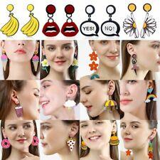 Cartoon Geometric Acrylic Boho Resin Earrings Drop Dangle Stud Party Women Gift