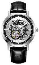 Rotary Reloj Esqueleto Correa De Cuero Negro GS05350/02 Relojes -15%!