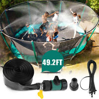 49ft Trampoline Sprinkler Spray Hose Waterpark Kids Toy Summer Outdoor Backyard