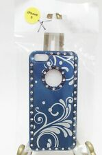 iPhone 5 case ~  Crystal Rhinestones, Blue & White ~ NEW in Pkg ~ FREE Shipping