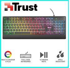 Tastiera USB Gaming Cablata Trust Ziva Retroilluminata LED RGB Rainbow QWERTY