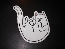 RIPNDIP Skate Sticker NERMAL MIDDLE FINGER rip n dip skateboards helmets decal