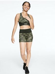 PINK by Victoria Secret Seamless High Waist Workout Shorties size Small Camo