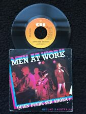 """Men At Work - Quien Puede Ser Ahora / Who Can It Be Now 7"""" Vinyl PS Spain CBS"""
