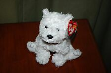DUNDEE the White Terrier DOG  - Ty Beanie Baby -  MWMT - Fast Shipping