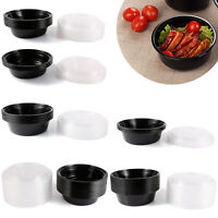 Plastic Round Food Grade Disposable Containers Take Out Microwave & Freezer Safe