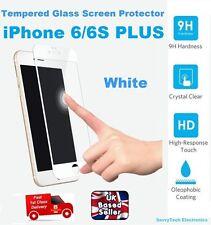 3D redondeado de vidrio templado Film protector Protector de pantalla para iPhone 6/6S Blanco Plus