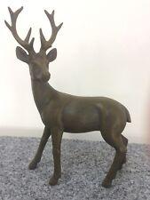 Ciervo de pie Aspecto bronce 22cm antepecho CAZA Cuernos Wild desván Chalet WOW