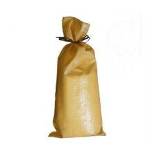 PACK OF 25 Yuzet Beige PP Sand Bags With Ties Flood Protection sack sandbag