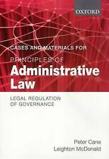 Cases and Materials for Principles of Administrative Law: Legal Reg