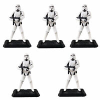 """Lot 5 Hasbro 3.75"""" Star Wars Stormtroopers OTC Trilogy Action Figure with Stands"""