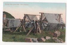 Drying Nets Jack Fish Lake Superior Canada Vintage Postcard US112