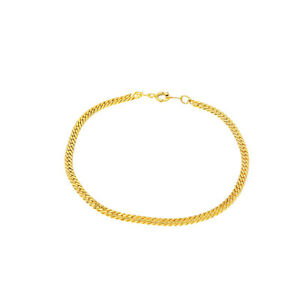 Armband aus Metall Gold Farbig für Damen und Herren Armbänder schlicht 21cm lang